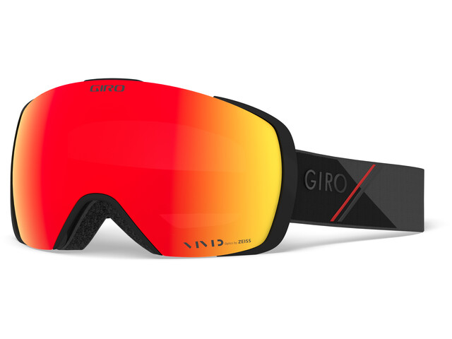 Giro Contact Snow Goggles black-red sporttech w vivid ember/infrared